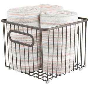 Wire Metal Storage Basket Bin Basket
